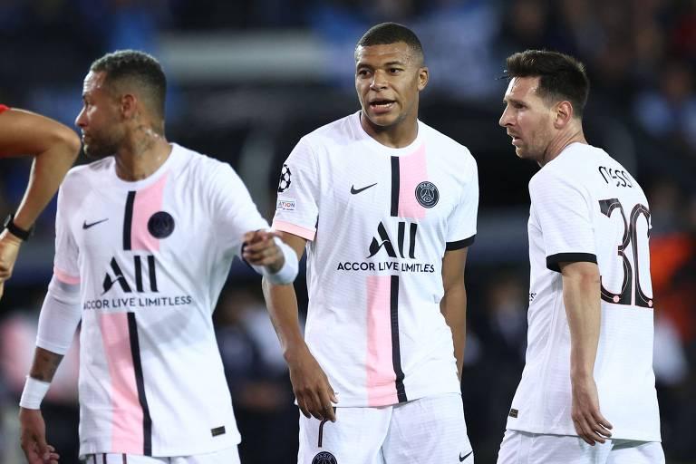 Caneladas do Vitão: PSG tropeça no Brugge e Manchester City larga na frente
