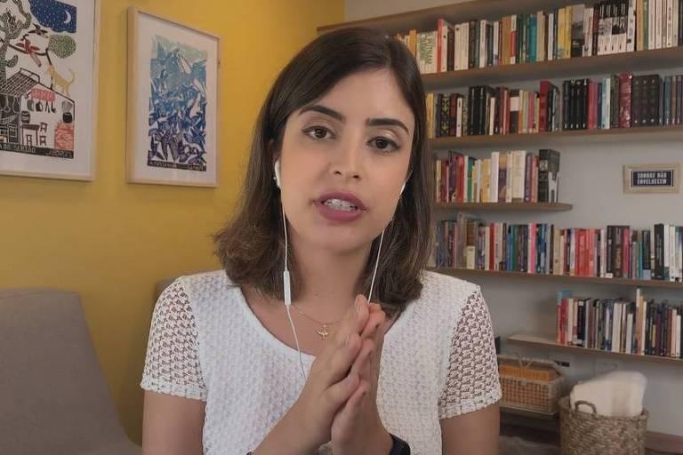 Deputada Federal Tabata Amaral fala sobre filiação ao Partido Socialista Brasileiro no programa Conversa com Bial, da TV Globo