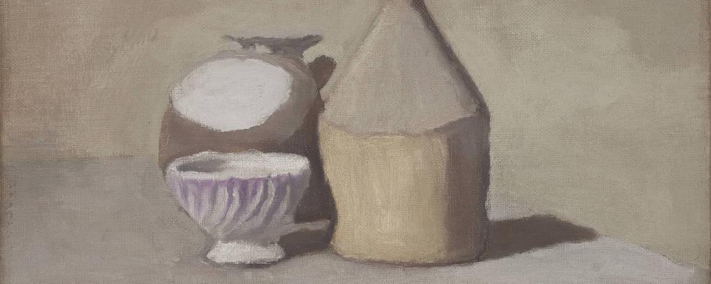 Obra de Giorgio Morandi que está no Centro Cultural Banco do Brasil, o CCBB