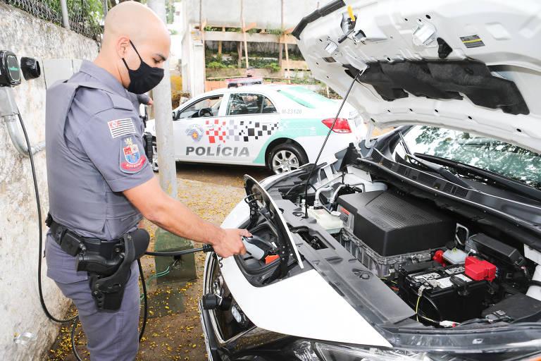 Polícia Militar testa viaturas elétricas para patrulhamento em SP