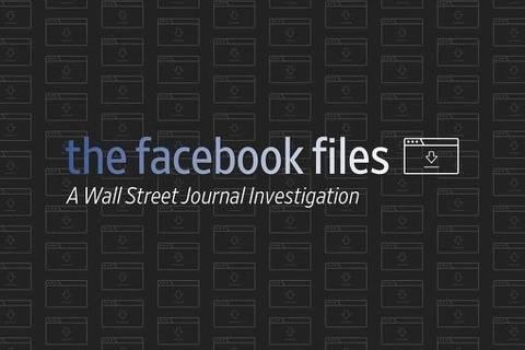 Logotipo de série do Wall Street Journal sobre o Facebook