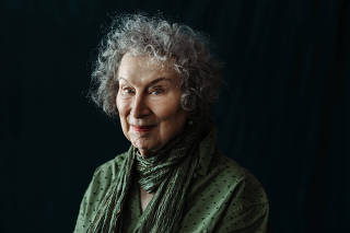 The author Margaret Atwood in Toronto, Aug. 20, 2019. (Arden Wray/The New York Times)