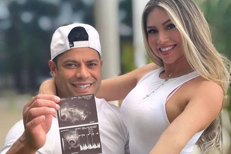 Hulk Paraiba e Camila Ângelo anunciar gravidez do primeiro filho juntos
