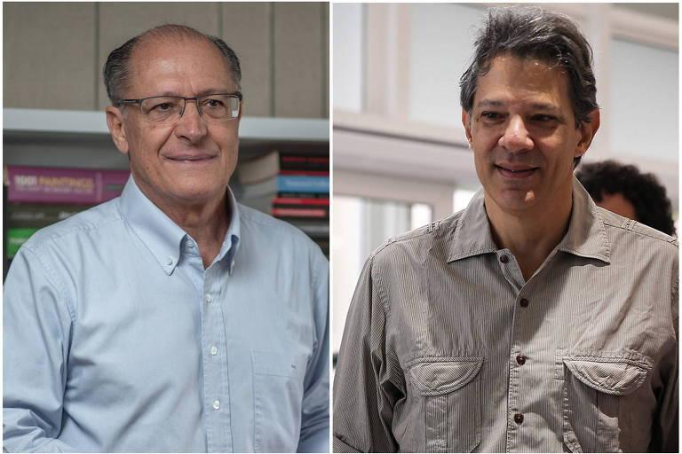 O ex-governador Geraldo Alckmin (PSDB) e o ex-prefeito Fernando Haddad (PT)