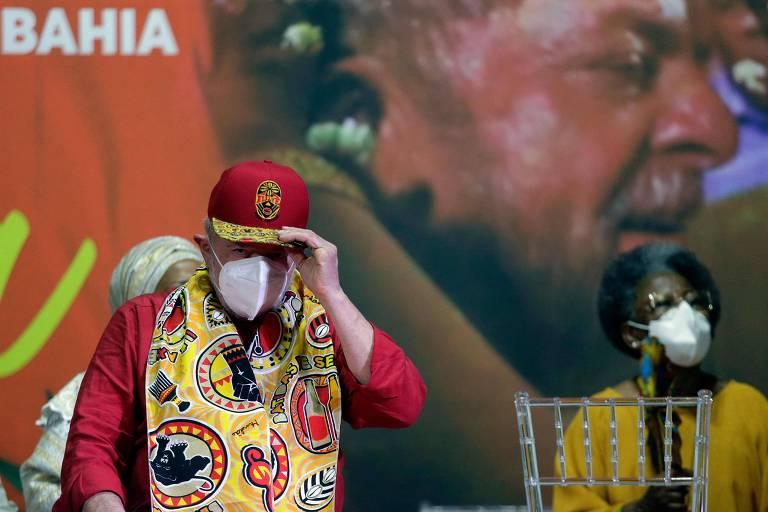 O ex-presidente Lula, em evento em Salvador (BA)