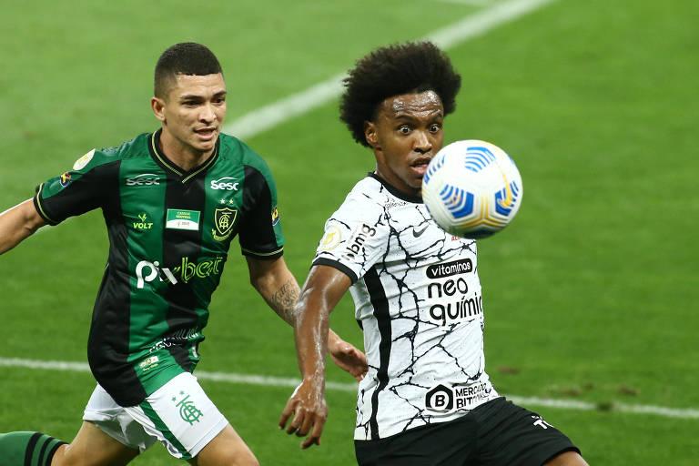 Willian fez sua estreia pelo Corinthians