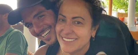 O surfista Gabriel Medina e sua mãe Simone