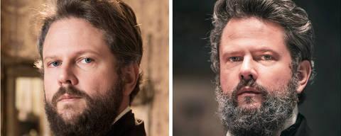 Dom Pedro II ( Selton Mello )  antes e depois da novela Nos Tempos do Imperador