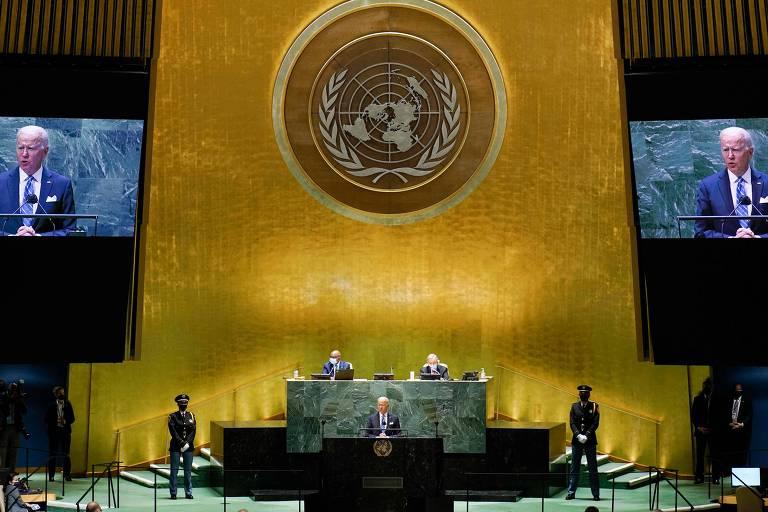 Biden faz discurso contraditório sobre conflito com a China na ONU