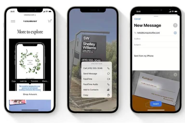 Novo iOS da Apple copia texto de foto e reforça 'não perturbe'