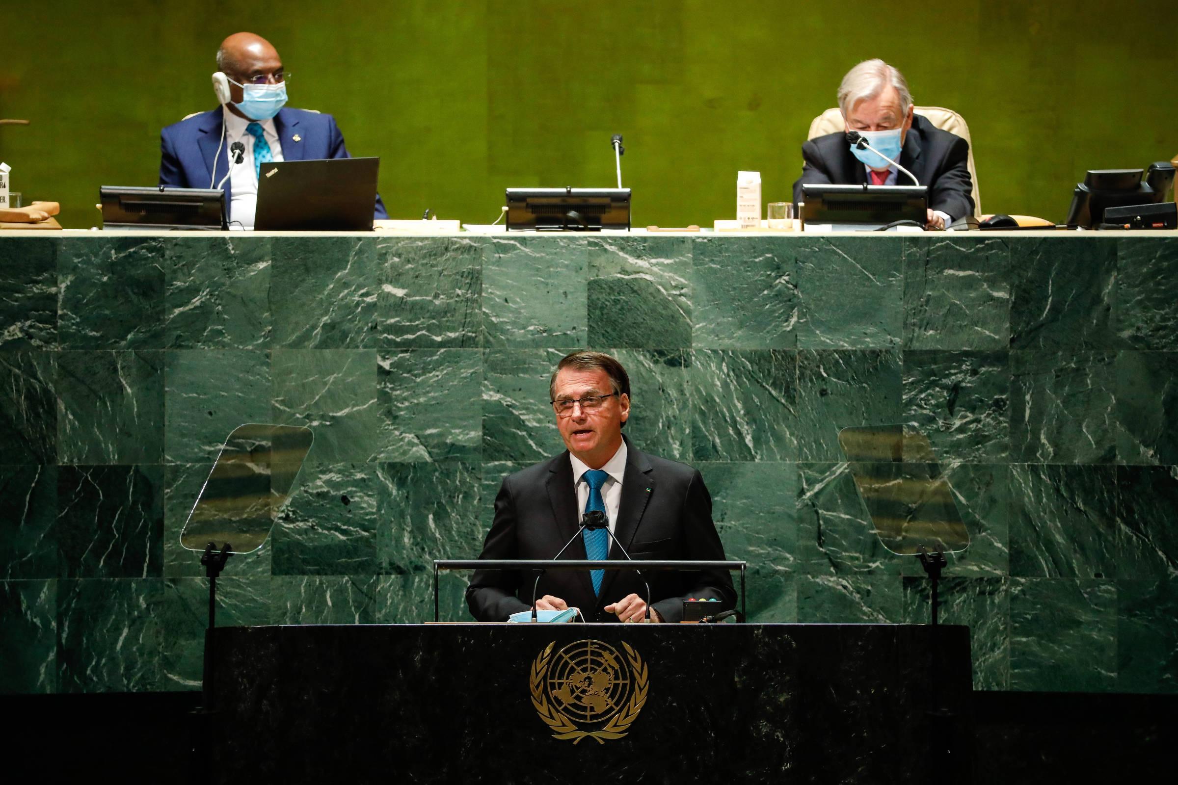 Na ONU, Bolsonaro dá informação incompleta sobre Amazônia e falsa sobre o 7 de Setembro