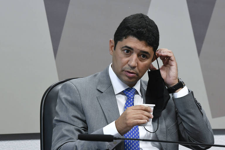 O ministro Wagner Rosário, da CGU (Controladoria-Geral da União), durante depoimento à CPI da Covid