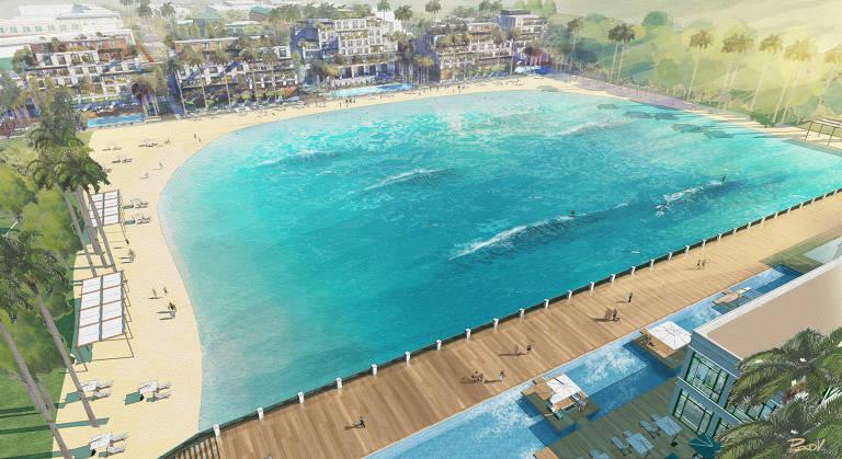 Condomínios do interior investem em piscinas para surfe