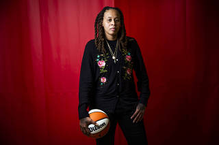 Seimone Augustus, an assistant coach for the Los Angeles Sparks, in Glendale, Calif., on July 27, 2021. (Jenna Schoenefeld/The New York Times)