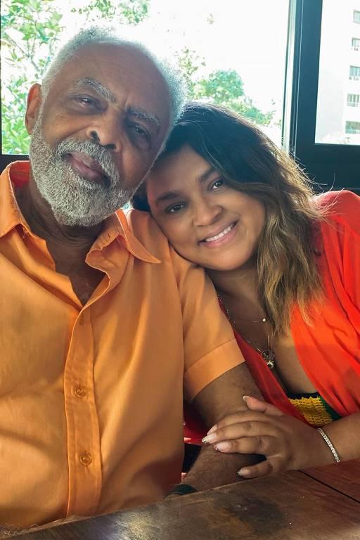 Gilberto Gil com a filha Petra Gil