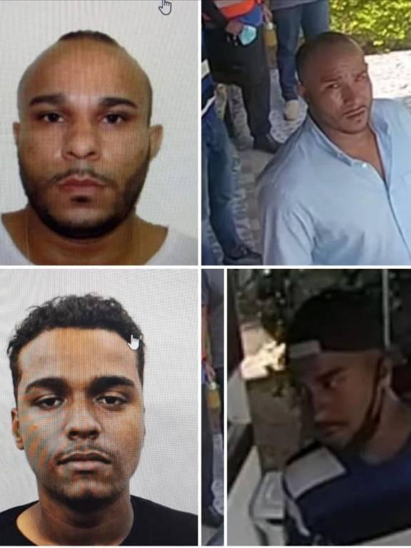 Marco Antônio da Silva (acima) e Khawan Eduardo Costa Silva, suspeitos de ter sequestrado o helicóptero