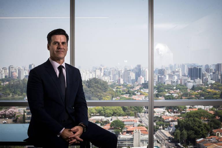 Fernando Parrillo, presidente-executivo da Prevent Senior, durante entrevista para a Folha em seu escritório em São Paulo