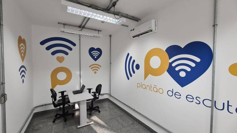 A estação Acesso Norte, no metrô de Salvador, ganhou uma sala para escuta permanente do CVV