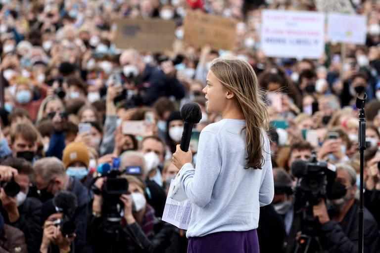Greta faz ato pelo clima em Berlim a 2 dias de eleição apertada para suceder Merkel