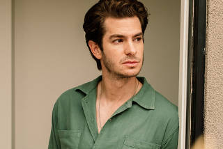 The actor Andrew Garfield at home in Calgary, Alberta, Canada, Aug. 14, 2021. (Alana Paterson/The New York Times)
