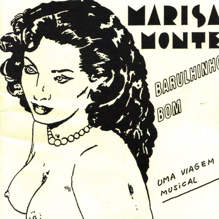 """Capa do CD """"Barulhinho Bom"""" (1996), de Marisa Monte, com imagem de Carlos Zéfiro"""