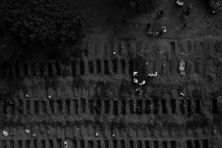 Vista aérea do Cemitério Vila Formosa, em São Paulo