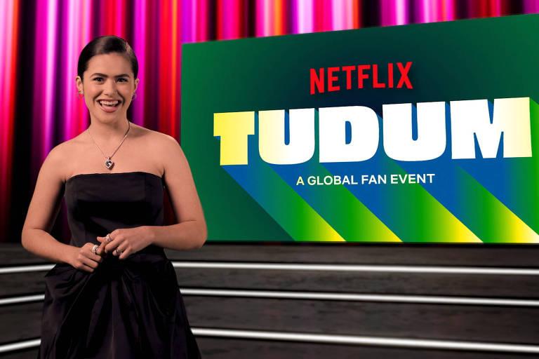 Maisa Silva durante o festival Tudum, da Netflix