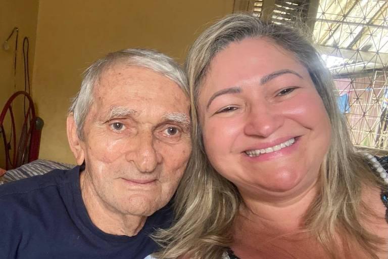 Francisco Maranhão Piorski (1940-2021) e a filha Francilene Alves de Oliveira Piorski Nakagawa