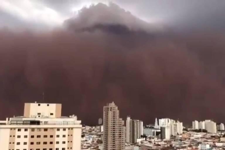 Tempestade de terra em Franca me fez ter vergonha de ser do interior paulista