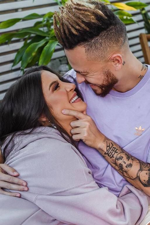 Bianca Andrade (Boca Rosa) com o marido Fred (Bruno Carneiro Nunes)