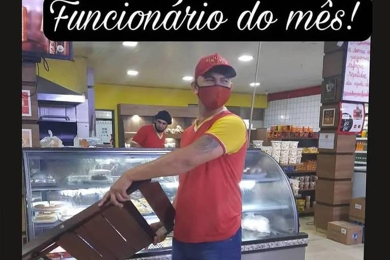Funcionário que reagiu a assalto em Porto Velho ganha título de funcionário do mês
