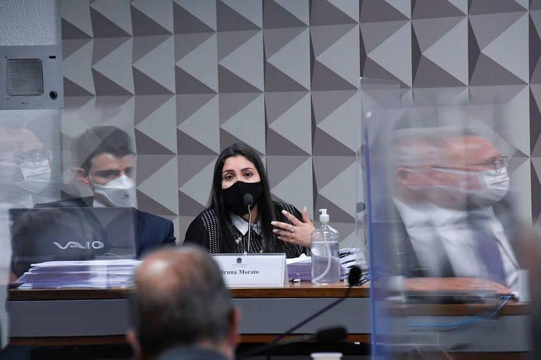 A advogada Bruna Morato depõe à CPI da Covid
