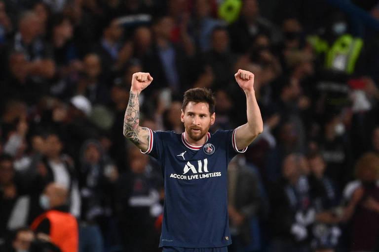 Messi marca primeiro gol pelo PSG em vitória sobre o City na Champions