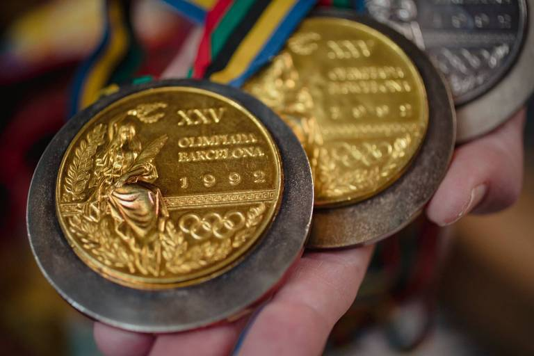 Medalhas da ex-nadadora Crissy Perham, favorável ao direito ao aborto
