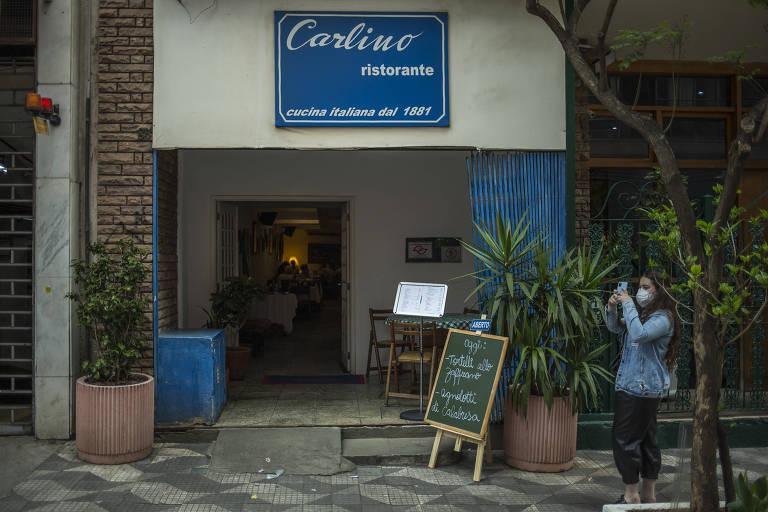Fachada do restaurante Carlino, o mais antigo da cidade
