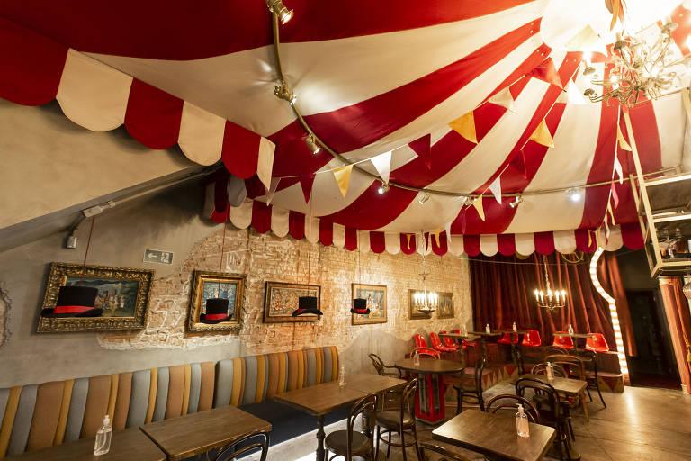 The Circus Bar & Kitchen, o restaurante em SP que tem decoração de circo
