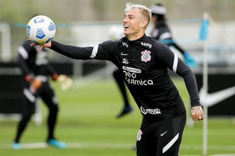 Róger Guedes deve ser mantido como a referência do ataque do Corinthians contra o Red Bull Bragantino
