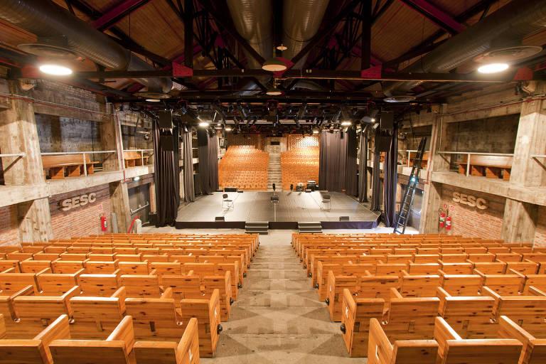 Teatro do Sesc Pompeia, na zona oeste da cidade de São Paulo