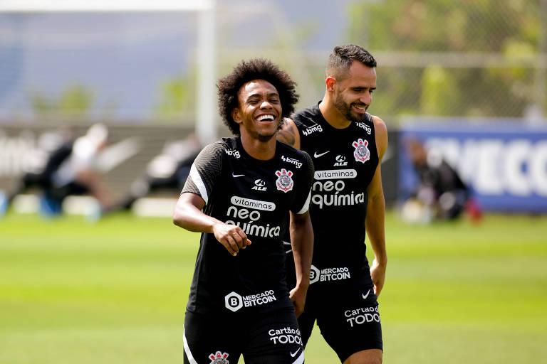 Willian e Renato Augusto voltarão a ter contato com a torcida do Corinthians