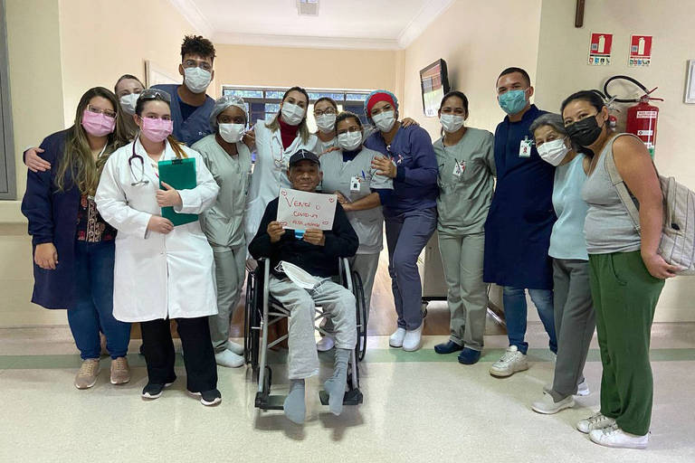 Carlos Massatoshi Higa, 72 anos, ficou internado por 191 dias em decorrência de complicações pela Covid-19 no Hospital São Camilo (zona norte da capital paulista)