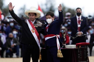 FILE PHOTO: Peru's President Castillo participates in an event at the Pampas de Ayacucho Historic Sanctuary, in Ayacucho