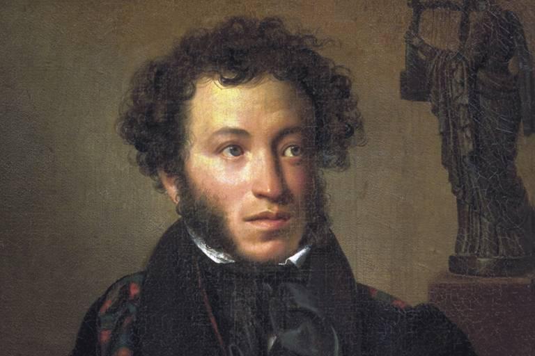 Retrato do escritor russo Púchkin
