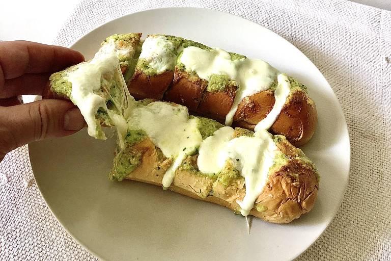Pão de alho caseiro