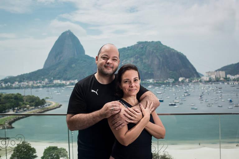 Jorge Calazans e Mayra Dias viajaram para trabalhar e fazer turismo no Rio