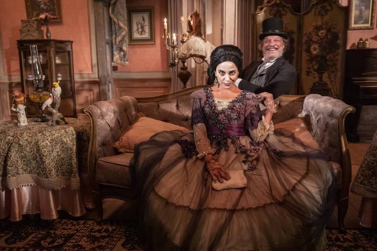Ernani Moraes e Paula Cohen em 'Nos Tempos do Imperador', novela