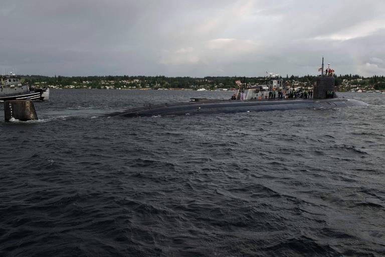 Submarino nuclear americano sofre colisão no mar do Sul da China