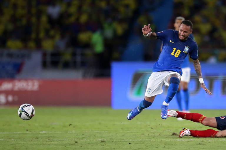 Neymar não se diverte e o Brasil não nos diverte