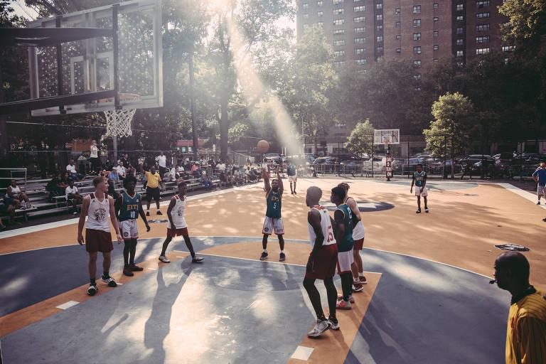 Reforma de quadra no Rucker Park, Meca do basquete urbano no Harlem