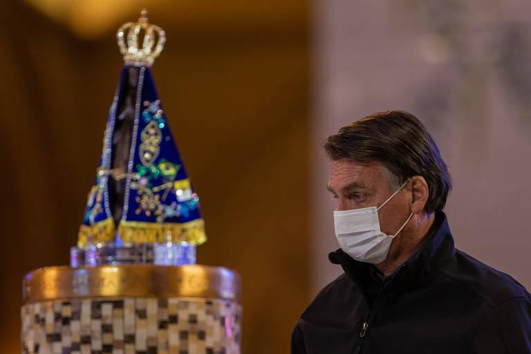 Bolsonaro visita Santuário de Nossa Senhora Aparecida