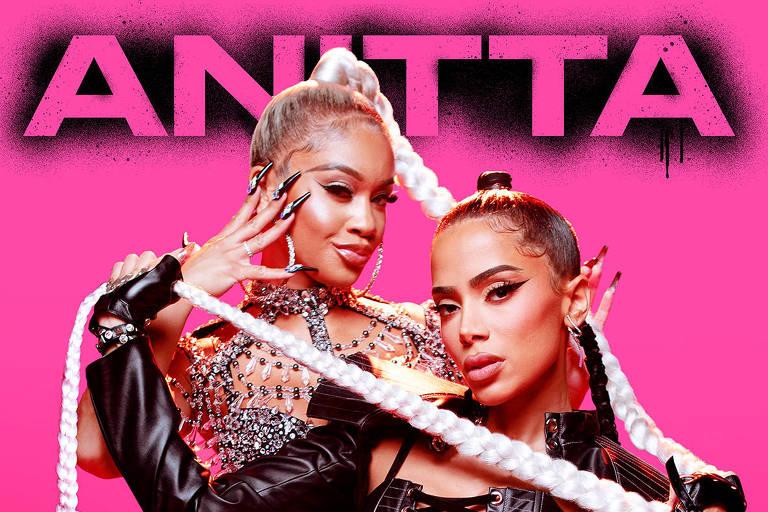 Capa do single 'Faking Love', parceria de Anitta com Saweetie
